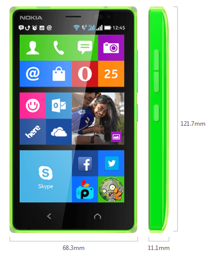 Nokia X2 Hands-on User Interface